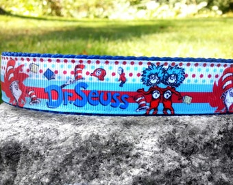 Thing 1 & Thing 2 1 Inch Width Dog Collar