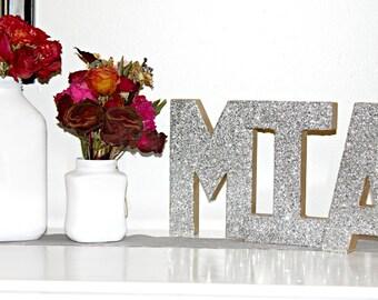 Glitter Letter Monogram Decoration A-Z