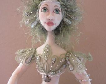 OOAK Soft Sculpture Mermaid; TRUST