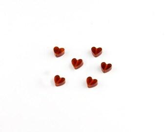 Carnelian Heart Beads