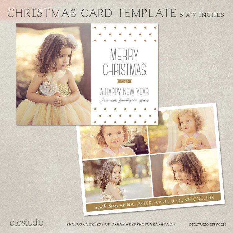 digital photoshop christmas card template forotostudio
