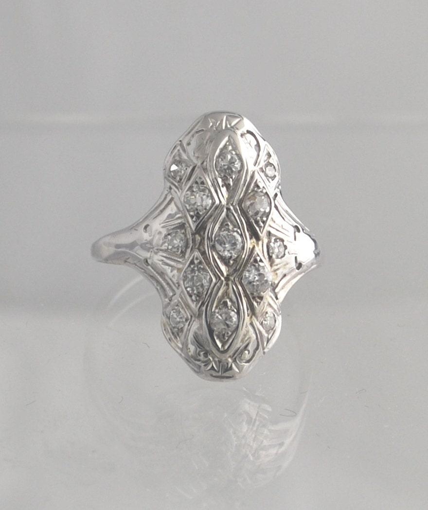 sale antique dinner ring 14 karat white gold