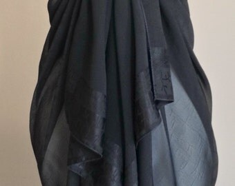 Black Bathing Suit Wrap/Skirt