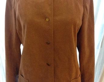Designer Vintage Rizik Brothers Tan Ultrasuede Jacket