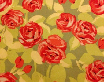 Love by Amy Butler for Rowan Fabrics - Tumble Roses in Flannel