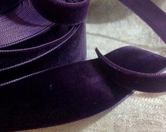 purple plum eggplant velvet ribbon