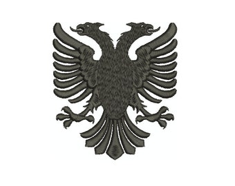 Machine Embroidery Design Instant Download - Heraldic Albanian Eagle
