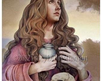 St. Mary Magdalene Art Print, Catholic Patron Saint #4139