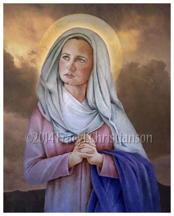 St Lydia Purpuraria Fine Art Print Catholic Patron Saint of Dyers #4126