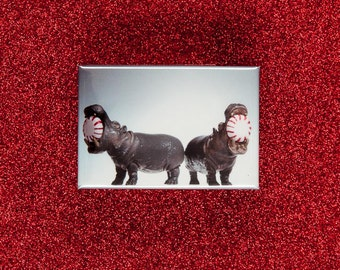 Stocking Stuffer Magnet: Hippos and the Peppermints