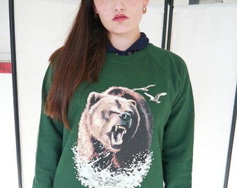 Bear jumper, Bear sweatshirt, Bear sweater, Wildlife Sweatshirt, Flight of the Conchords, Don't Feed The Bears Animals, TMZ, The Bears, New