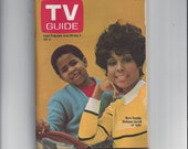 "TV Guide from June 28, 1969, with Cover Featuring ""Julia"" Stars Diahann Carroll and Marc Copage AND Story on Prince Charles' Investiture"