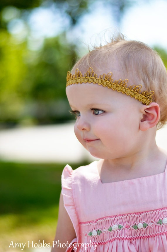 Baby Girl Crown, Birthday girl Crown, Baby Girl Headband, Baby Crown Headband, Crown For Babies, Gold Crown, Crown Gold, Princess Headpiece