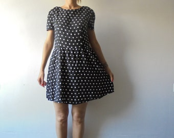 SALE !!!!!.Polka Dot Dress.Short Dress.Summer Dress.