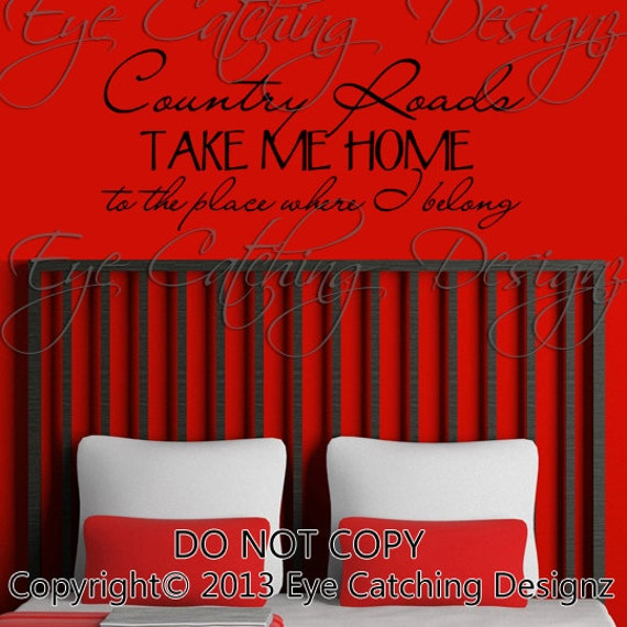 lyrics song wall decal sticker art home decor love bedding bedroom