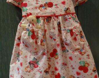 My Valentine Pocket Kitty Dress