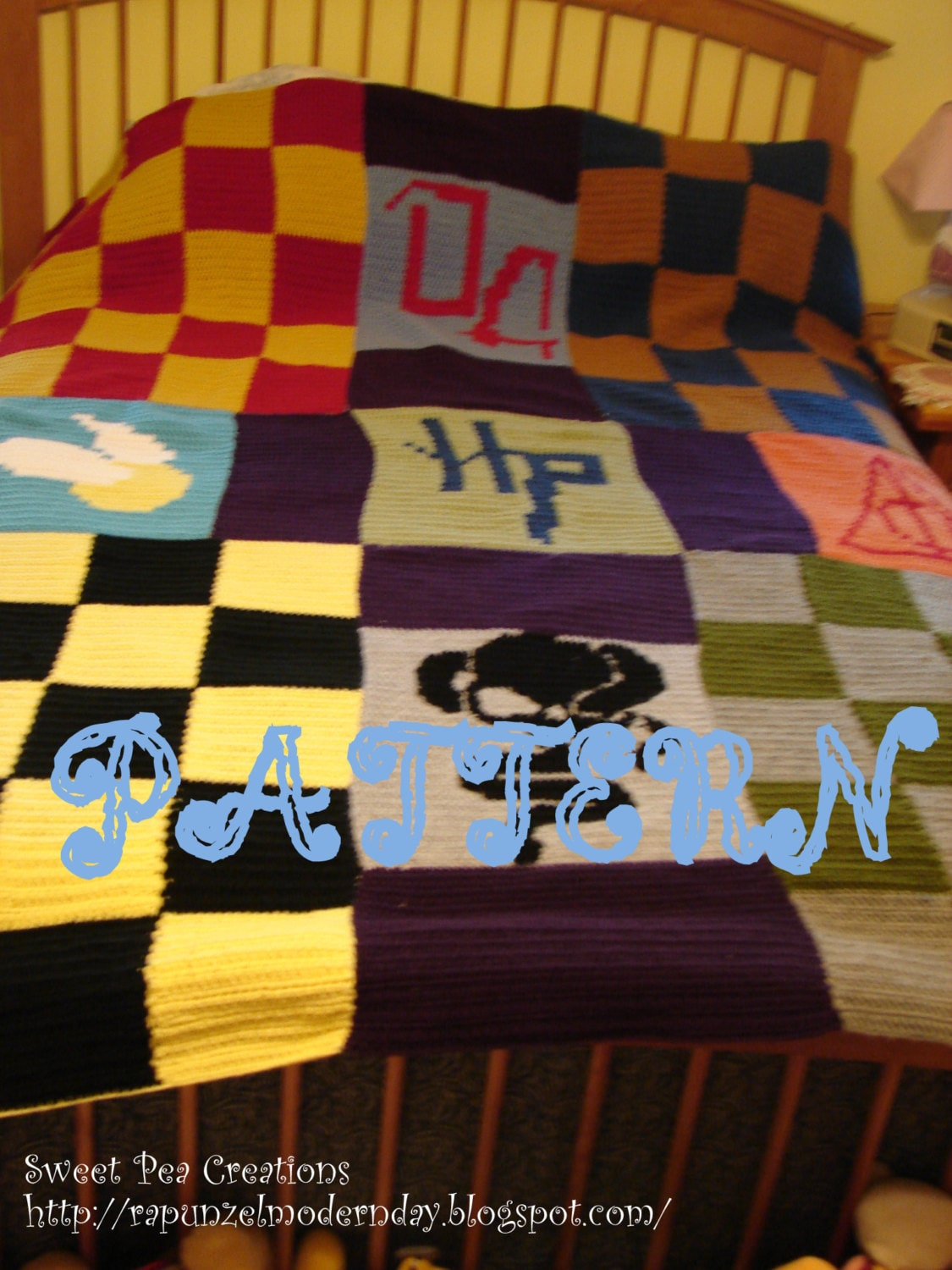 pattern harry potter blanket digital crochet pattern harry. Black Bedroom Furniture Sets. Home Design Ideas