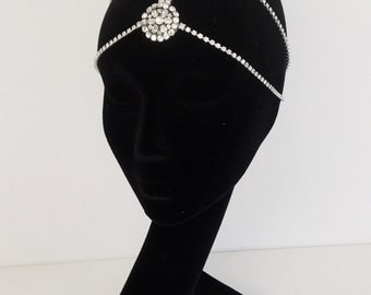 Bali Headchain - Bridal Headchain boho headpiece bridal headpiece gatsby headpiece crystal headpiece