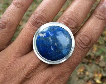 ring with Lapis lazuli size 7,5