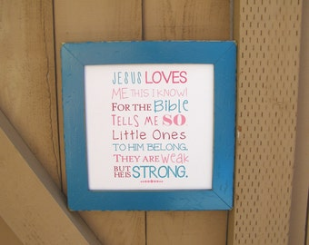 Jesus Loves Me Song Print. Nursery Art. Matthew 19:14. Print and Pop into any frame. DIY Instant Downloadable File. Bible verse for Nursery