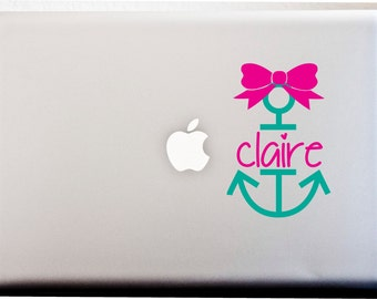 HOPE Anchor Personalized MONOGRAM DECAL Anchor Bow Summer Nautical Navy