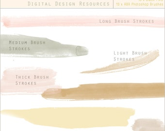 Watercolour Brush Strokes - Digital Design Resource - Clip Art & Photoshop Brushes