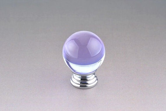 Items similar to purple glass dresser drawer knobs pulls for Purple glass bathroom accessories