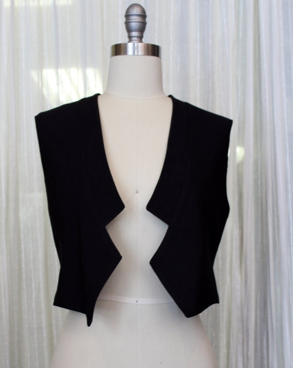 WILD WOOD - sleeveless vest, chic blazer, jacket, cover-up for womens- black