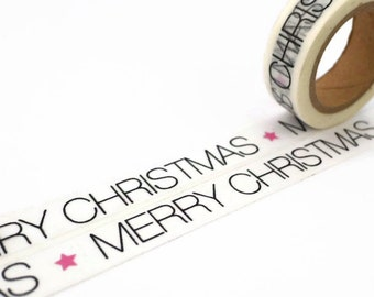 Merry Christmas Washi Tape - Xmas Message Deco Tape