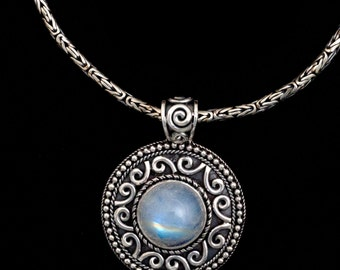 Silver Balinese Moonstone Necklace: DELILAH