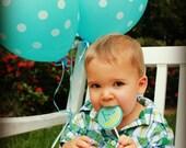 Twinkle Twinkle, Hard Candy Lollipops, Candy, Party Favors, Edible Images, Blue Lollipops, Little Boy Party -Set of Six