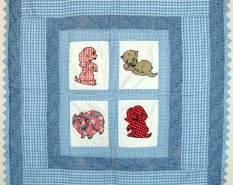 Handmade Baby Quilts, Animals in the Window