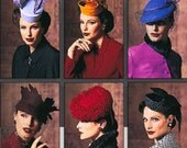 VOGUE HAT PATTERN 1930s 1940s Style Millinery Pattern Birdcage Pillbox Hats Veil Feathers Vogue 7657 905 UNCuT Accessories Sewing Patterns