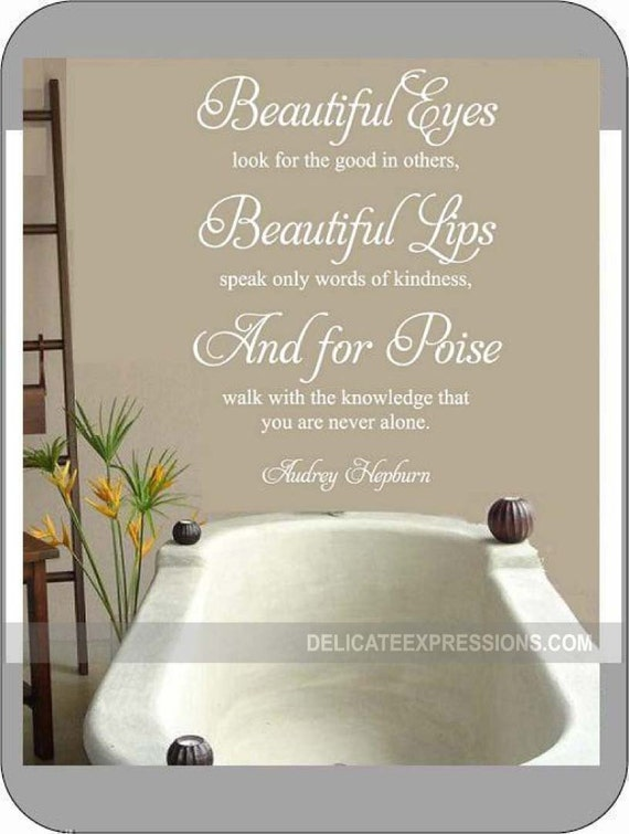 For Beautiful Eyes Look for the Good in Others Wall Quote by StoneCreekWallDecals