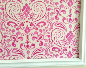 Pink Flourishes Pin Board Cork Board
