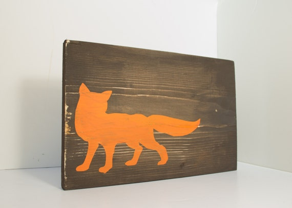Items Similar To Fox Wood Sign Fox Home Decor Rustic Wall Art Rustic Wood Sign Rustic