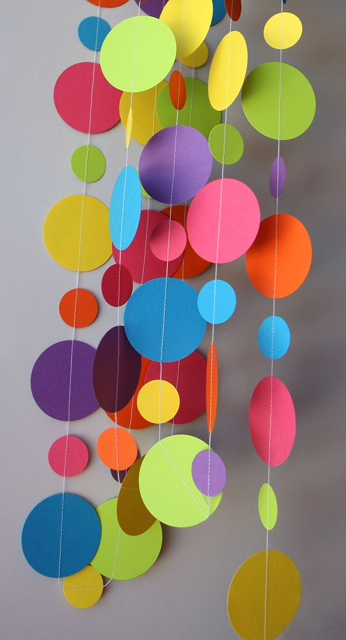 Paper garland birthday decorations birthday party decor - Paper decoration for birthday ...