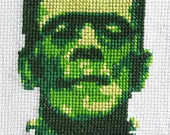 Frankenstein Cross-Stitch Pattern - Instant Download PDF
