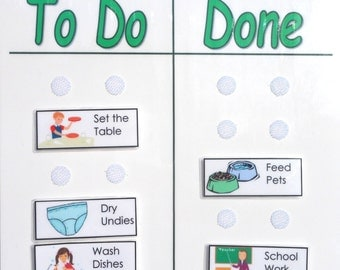 Chore Chart with Chore Pictures; To Do List; You choose the Chores
