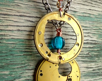 N171/N172 Steampunk Antique Verge Fusee Pocket Watch Rounds Necklaces -- FREE SHIPPING
