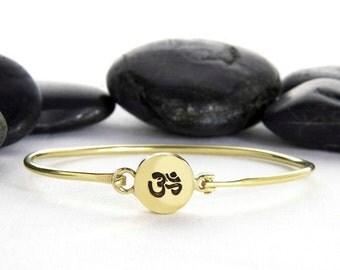 Om Bracelet, Yoga Bracelet, Yoga Jewelry, Om Charm, Meditation Bracelet, Bracelet, Charm Bracelet, Ohm Bracelet, Yoga, Spiritual Jewelry