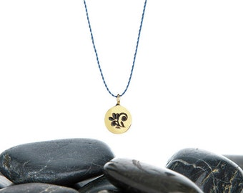 Flower Necklace, Flower Charm, Tiny Charm, Flower Necklace, Tiny Necklace, Layer Necklace, Flower Jewelry, JIN247TBR