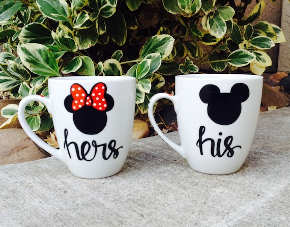 his and hers mugs mickey and minnie mouse couples