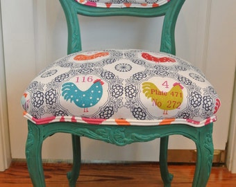 Fun French Vanity Chair
