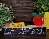 Personalized Teacher Name Plate Gift Personalized Teacher Gift Back to School Gift Secretary Gift Administrator Name Plaque End of School