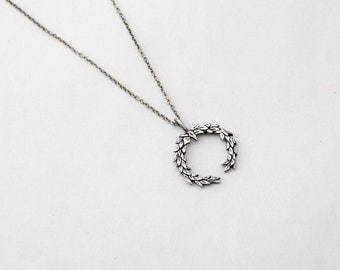 Laurel Wreath necklace- Sterling Silver