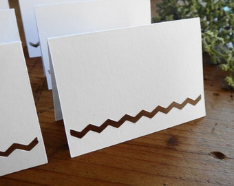 Chevron Name Place Cards--Set of 25--Wedding Place Cards, Seating Cards, Wedding Name Cards