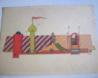80's original painting, signed