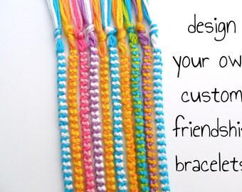 10 Custom Friendship Bracelets Bulk Order - Bulk Friendship Bracelets