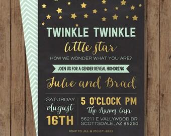 Twinkle Twinkle Little Star! Gender Reveal Baby Shower Invite